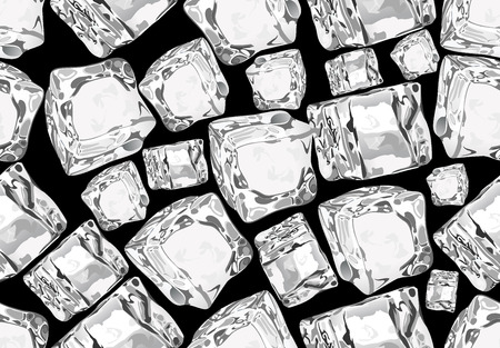 cubos de hielo: cubos de hielo inconsútil. Vectores