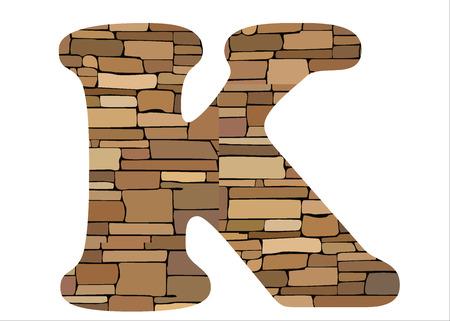 Stone alphabet K