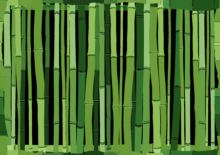 Seamless cartoon background of green wall from bamboo.