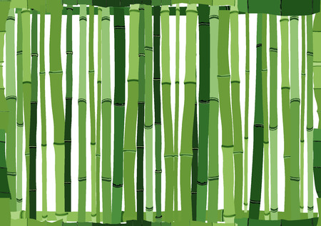 bosk: Seamless cartoon background of green wall from bamboo.