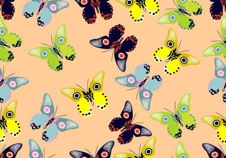 endearment: Seamless wallpaper with butterflies