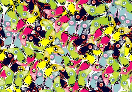 Seamless wallpaper with butterflies