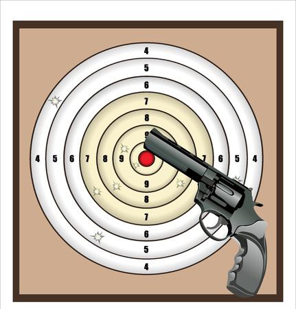 gun shot target vector background Vector