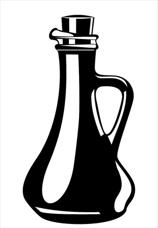 traditional ceramic bottle Vector