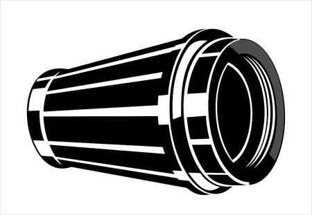 Car engine air filter Vector Illustration