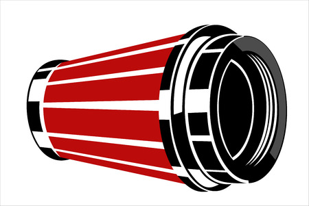 air filter: Car engine air filter  Illustration