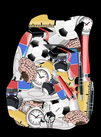 new school year: Schoolbag the new school year