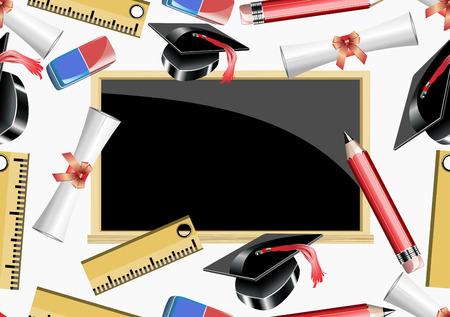 rubber sheet: Seamless school background, back to school pattern