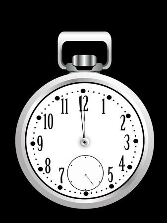 timekeeper: pocket watch on black background