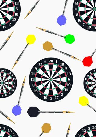 dartboard: seamless dartboard pattern