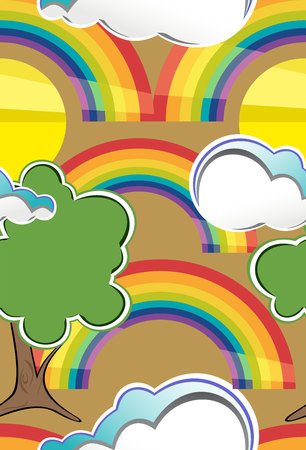 Seamless rainbow background..Design for kids. Illustration