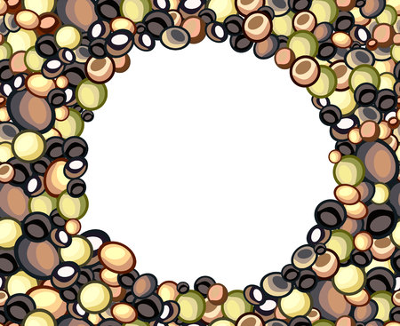 oblázky: seamless offset pattern with pebbles