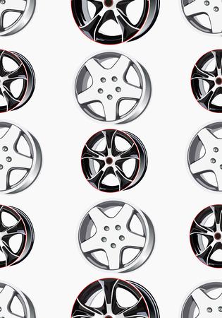 seamless texture car wheel.