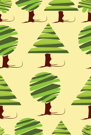 silhouettes of trees. seamless pattern. Vector