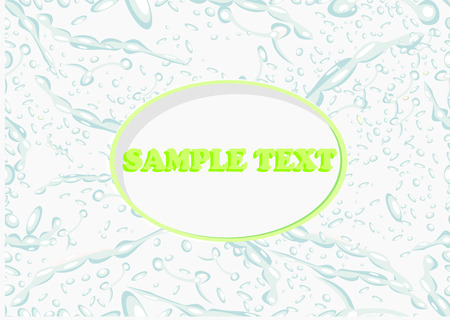 Seamless Background with Water Drops Illustration