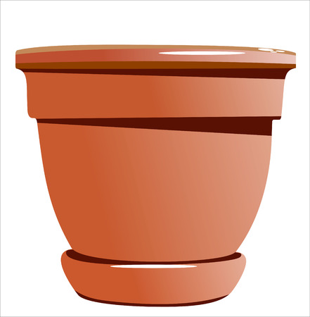 clay pot: ceramic garden pot Illustration