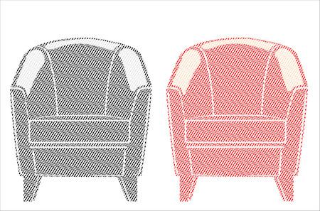 arm chair: Arm chair Illustration