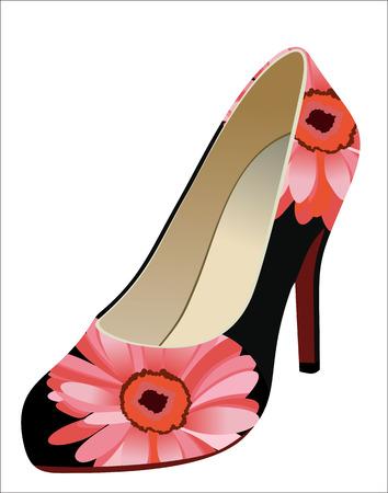 Womens shoes isolated on white. Illusztráció