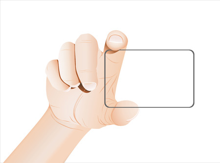 carte de visite vierge: La prise de main de carte de visite