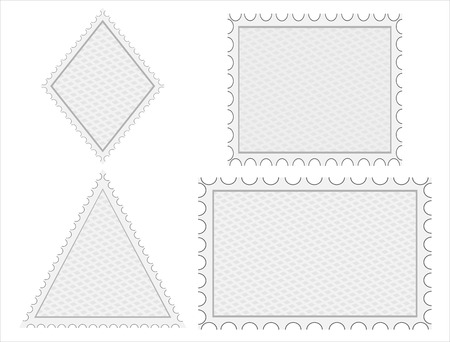 philately: set of blank postage stamps