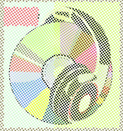 disk break: Headphones on music disk CD