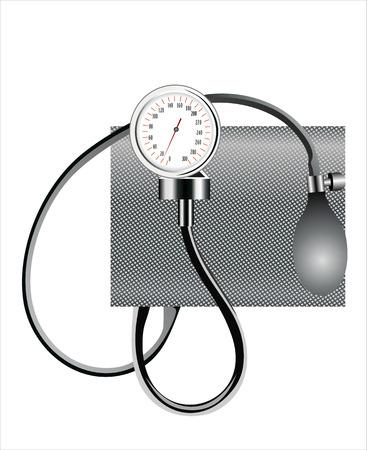 outpatient: Black tonometer isolated on white Illustration