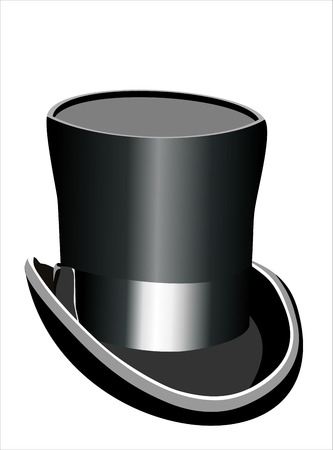 top black hat: black top hat vector illustration isolated on white background Illustration