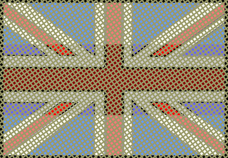grunge union jack: United Kingdom Flag vector illustration.