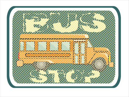 bus stop: bus stop signs Illustration