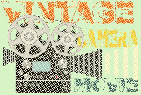 Vintage movie camera Vector