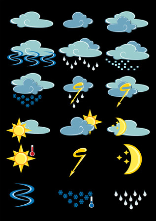 drizzle: Weather Icons Illustration