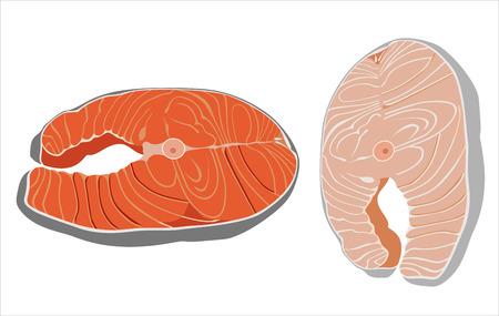 fish steak: Fish steak vector Illustration