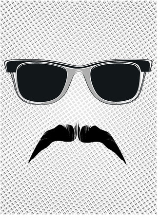 mustaches: glasses and mustaches. vector