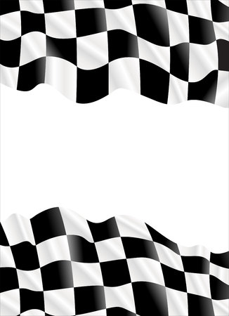 one trim: Vector background checkered flag for your text