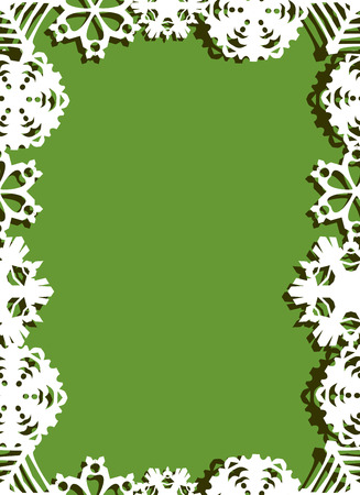 new years background: Stylish christmas card on seamless.snowflakes