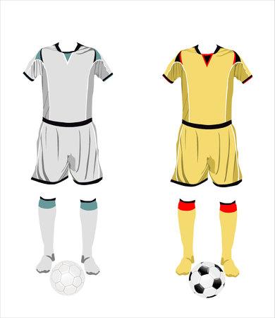 world championships: Different football Soccer uniforms. Vector illustration Illustration