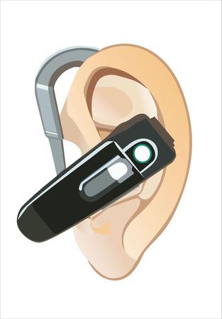 handsfree: hands-free on woman ear