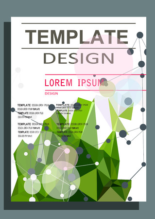 booklet design: Abstract polygon design vector template layout for magazine brochure flyer booklet.Vector illustration Illustration
