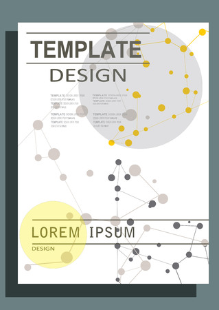 booklet design: Abstract design vector template layout for magazine brochure flyer booklet.Vector illustration