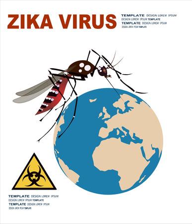 cdc: zika virus, research, mosquito Illustration
