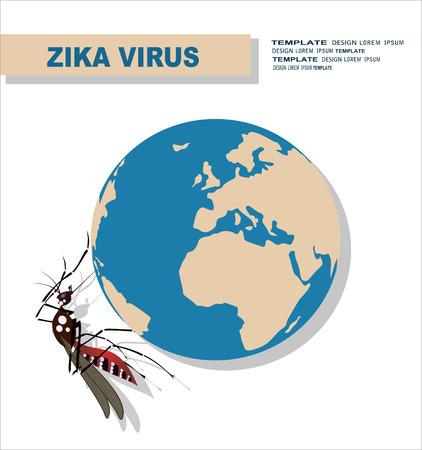 zika virus, research, mosquito Illustration