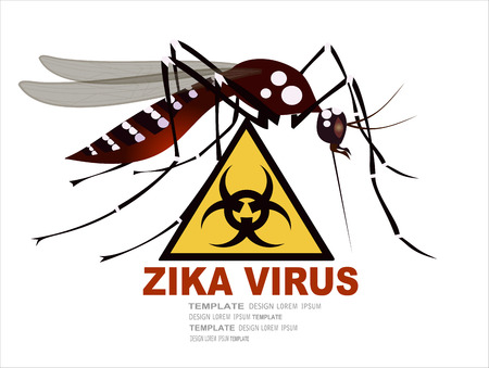 Zika virus warning sign, vector