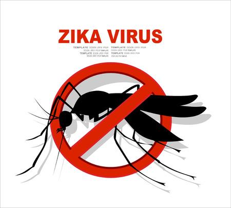 dengue: Caution of mosquito icon, spread of zika and dengue virus. Vector Design