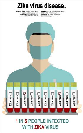 Blood sample for Zika virus test Illustration