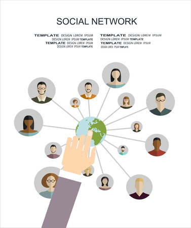 group icon: Abstract Scheme of social network