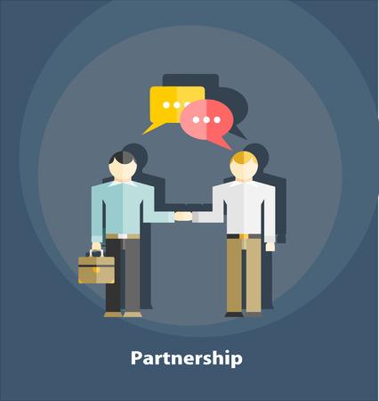 business partner: Partnership flat illustration Illustration