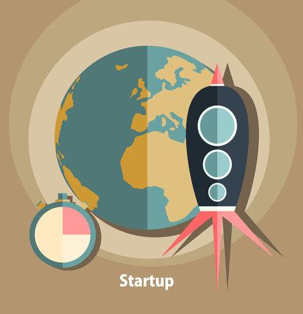 Time is money business concept in modern flat design vector illustration.