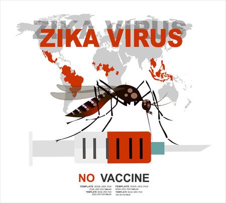 Zika virus. No vaccine. Original concept for your design. Zika Vector. Illustration