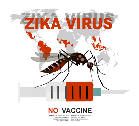 cdc: Zika virus. No vaccine. Original concept for your design. Zika Vector. Illustration
