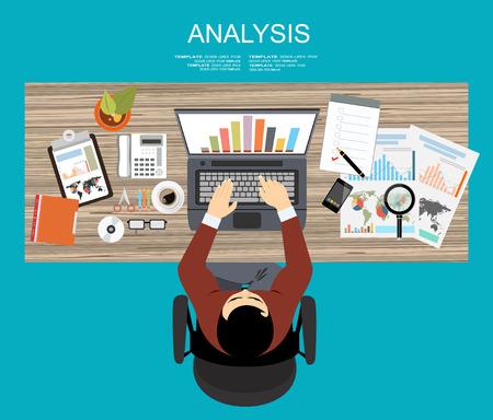 Platte ontwerp illustratie concepten voor business analyse en planning, financiële strategie, consultancy, project management en ontwikkeling. Concept aan de opbouw van succesvolle zaken Vector Illustratie